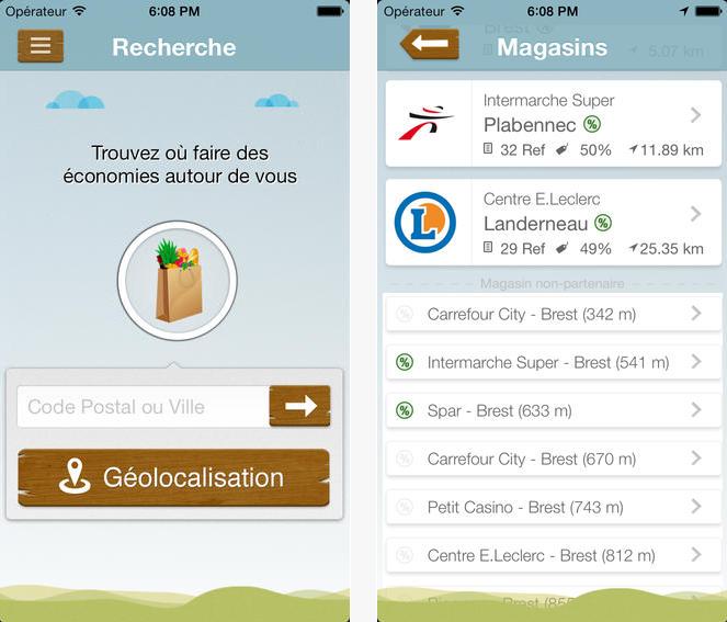Capture d'écran Zéro-Gâchis iOS