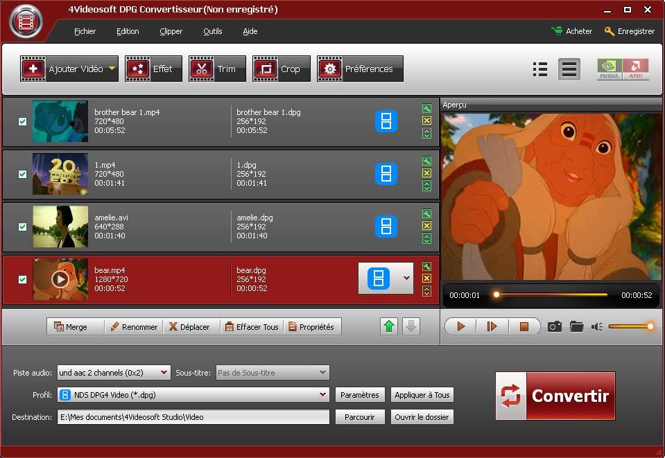 Capture d'écran 4Videosoft DPG Convertisseur