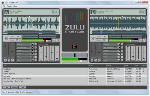 Capture d'écran Zulu Professional DJ Software