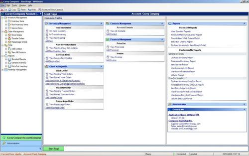 Capture d'écran WMSmart-3PL