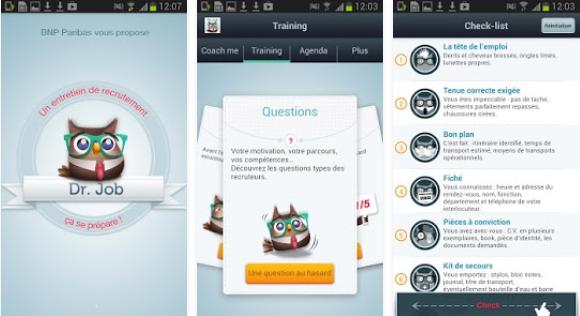 Capture d'écran Dr.Job Android
