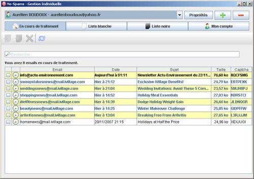 Capture d'écran NO-SPAMS