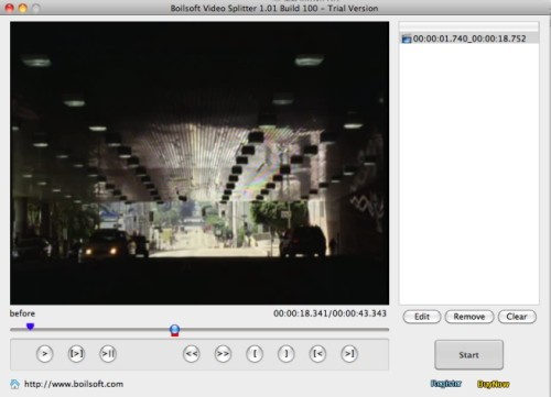 Capture d'écran Boilsoft Video Splitter for Mac
