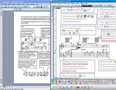 Capture d'écran Music Notation For MS Word