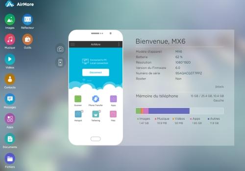 Capture d'écran AirMore-Transfert des fichiers iOS