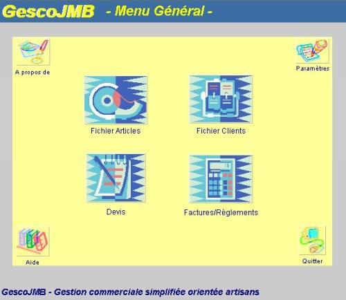 Capture d'écran GescoJMB v4