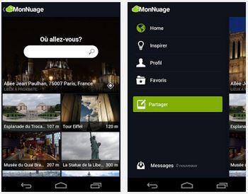 Capture d'écran MonNuage iOS
