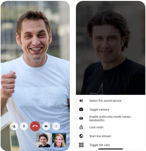 Capture d'écran Jitsi Meet Android