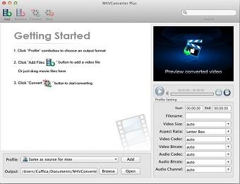 Capture d'écran M4V Converter Plus Pour Mac