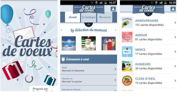 Capture d'écran Cartes de voeux iOS