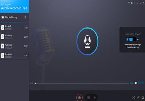 Capture d'écran Ashampoo Audio Recorder Free