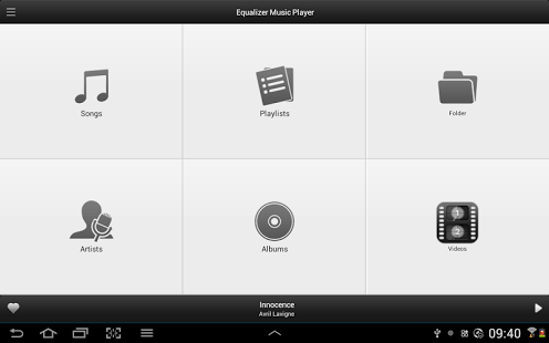 Capture d'écran Equalizer Music Player Android