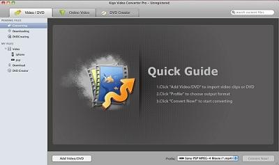 Capture d'écran Kigo Video Converter Pro for Mac