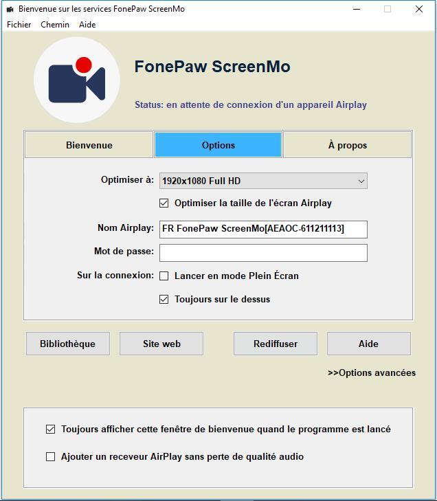 Capture d'écran FonePaw ScreenMo