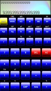 Capture d'écran Calculatrice Scientifique