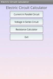 Capture d'écran Calc. de circuit électrique