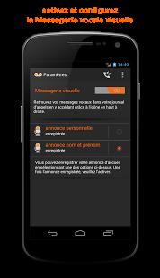 Capture d'écran Messagerie vocale visuelle
