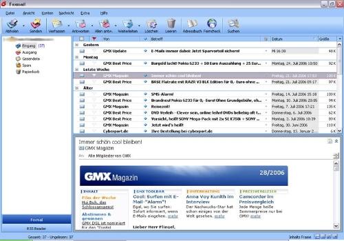 Capture d'écran Foxmail