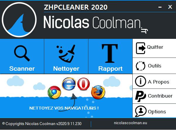 Capture d'écran ZHPCleaner