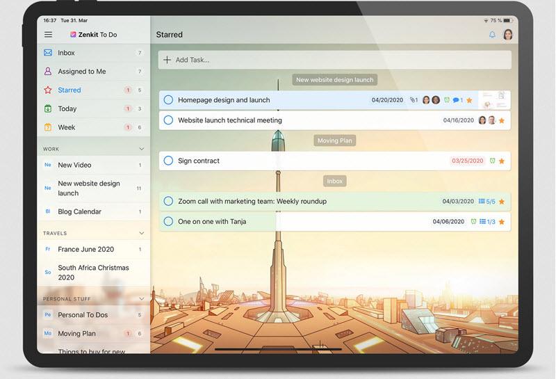 Capture d'écran Zenkit To Do Mac