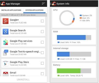 Capture d'écran Ccleaner Android