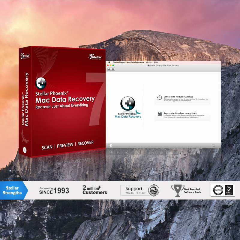 Capture d'écran Stellar Phoenix Mac Data Recovery
