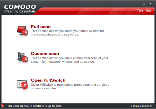 Capture d'écran Comodo Cleaning Essentials