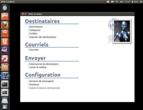 Capture d'écran EMA LINUX