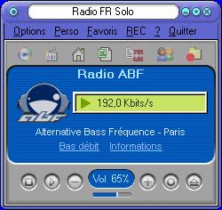Capture d'écran RadioFrSolo