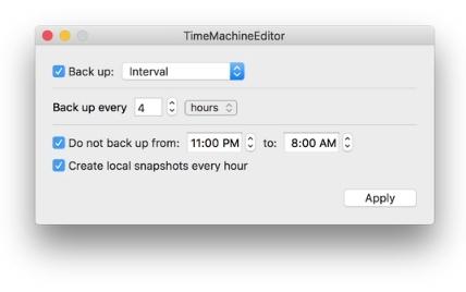 Capture d'écran TimeMachineEditor