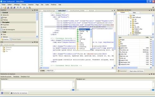 Capture d'écran WebzDitor