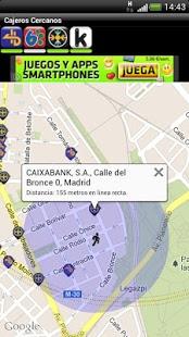 Capture d'écran Cajeros Cercanos