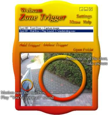 Capture d'écran Webcam Zone Trigger
