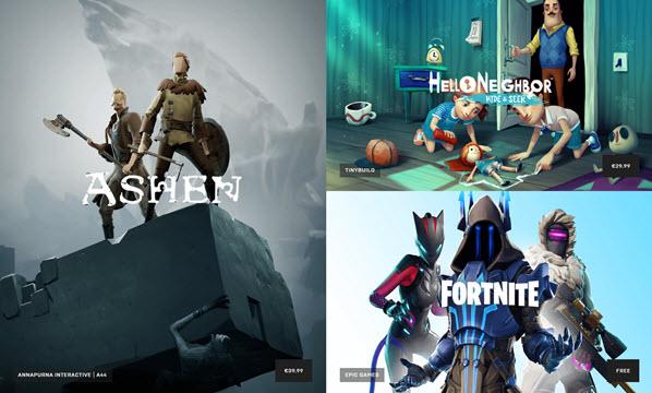 Capture d'écran Epic Games Store