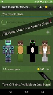 Capture d'écran Skin Toolkit for Minecraft