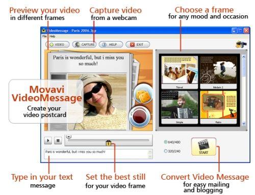 Capture d'écran Movavi VideoMessage