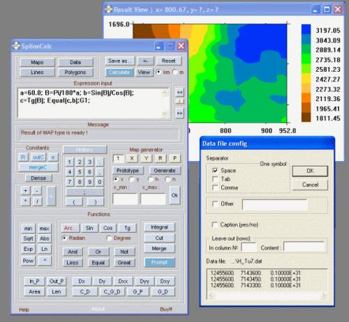 Capture d'écran SplineCalc