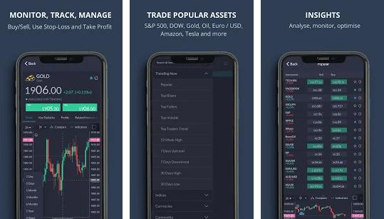 Capture d'écran Trade.com Android