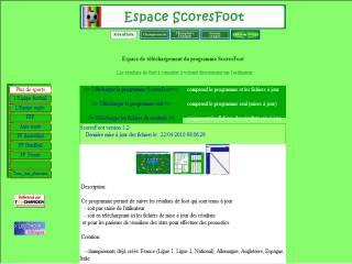 Capture d'écran ScoresFoot