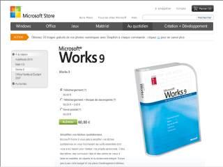 Capture d'écran Works 9