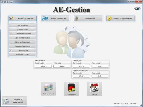 Capture d'écran AE-Gestion (Informatique)