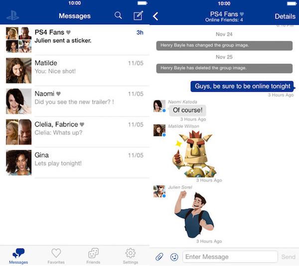 Capture d'écran Playstation® Messages android
