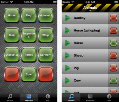 Capture d'écran Bruitage iOS