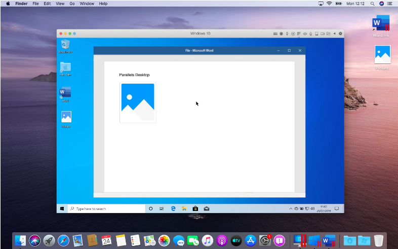 Capture d'écran Parallels Desktop For Mac