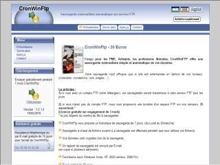 Capture d'écran CronWinFtp
