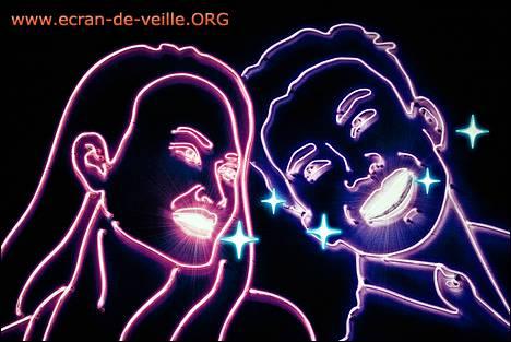 Capture d'écran ecran-de-veille.org Affiche