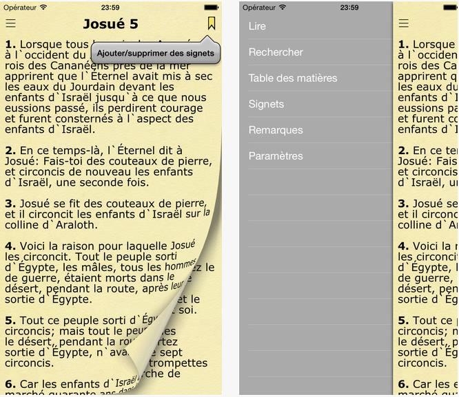 Capture d'écran La Bible de Jerusalem iOs