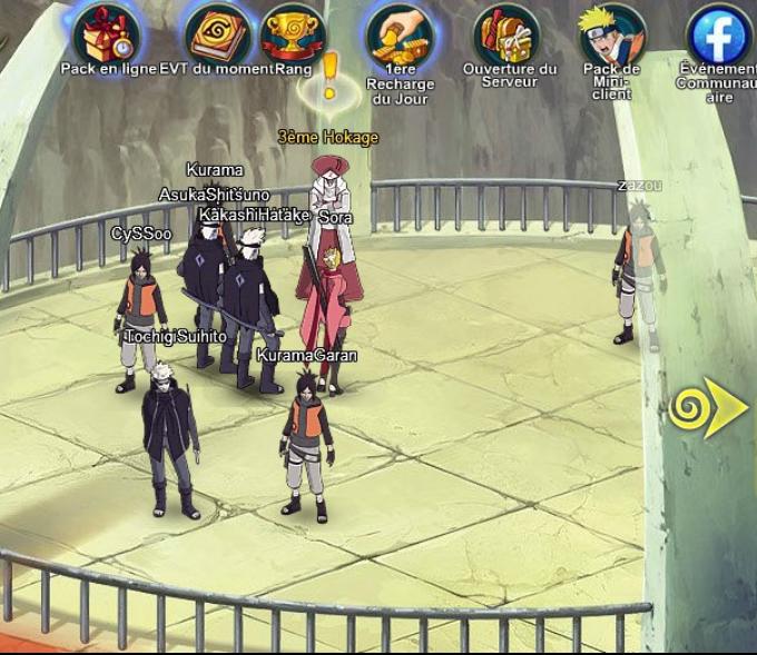 Capture d'écran Naruto Online