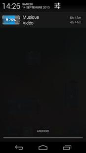 Capture d'écran Batterie HD Pro