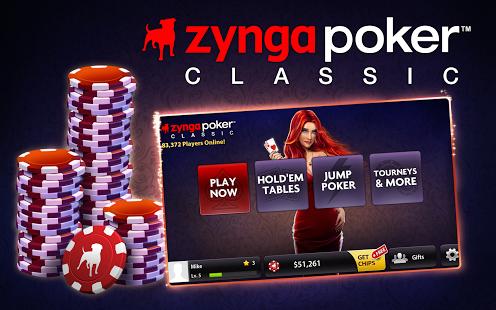 Capture d'écran Zynga Poker Classic TX Holdem